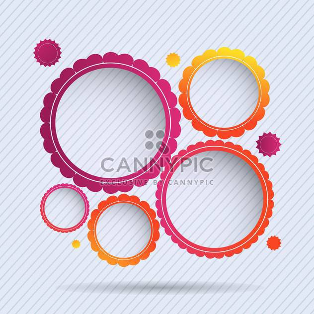 collection of circle frames set background - Free vector #132836