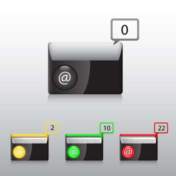 vector e-mail icons set - vector gratuit #132916