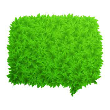 green foliage speech bubble - Free vector #132966