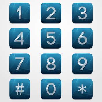 numerical telephone keypad background - vector gratuit #132976