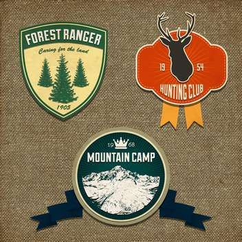 adventure badges and hunting logo emblems - vector gratuit #132996