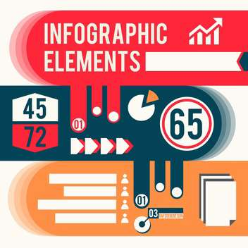 business infographic elements set - vector gratuit #133016