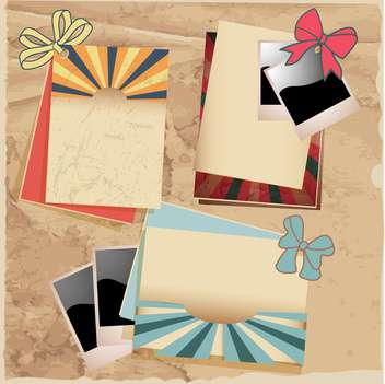 Vector vintage photo frames set - vector gratuit #133026