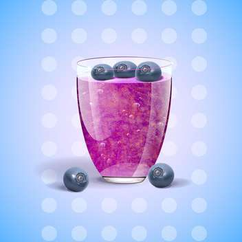 vector blueberries juice in glass - vector gratuit #133066