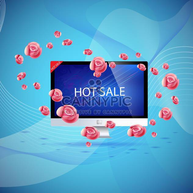 hot sale shopping concept - Free vector #133076
