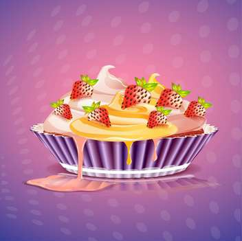 birthday cake vector illustration - vector gratuit #133086