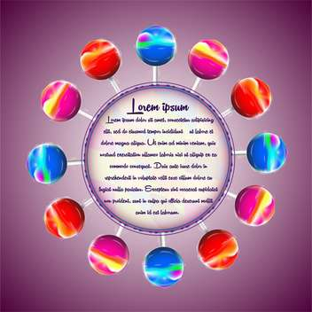 vector illustration of colorful lollipops - vector gratuit #133096