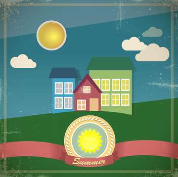 summer houses vector illustration - vector gratuit #133136