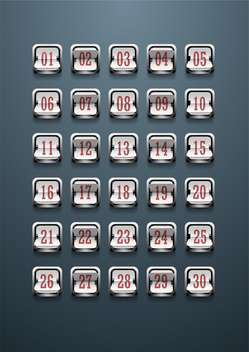 set of figures on mechanical scoreboard - Free vector #133146
