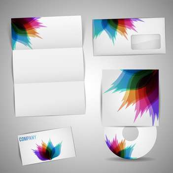selected corporate templates set - Free vector #133176
