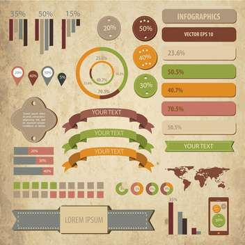 business infographic elements set - Free vector #133186