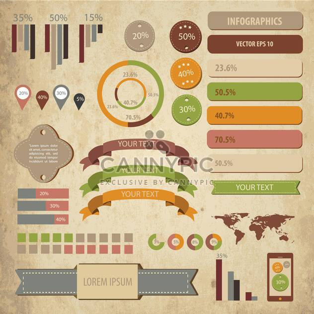 business infographic elements set - бесплатный vector #133186