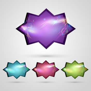 vector abstract glossy buttons - vector gratuit #133196