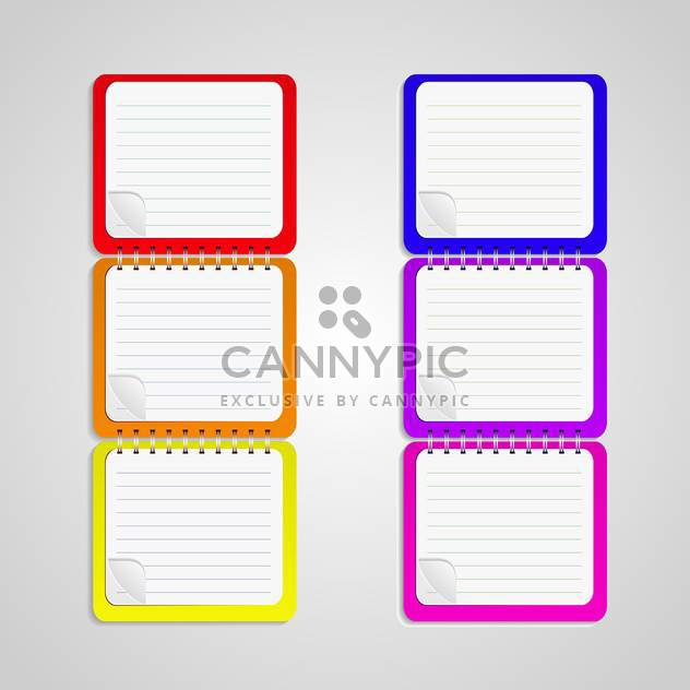 set of vector notebook papers - Free vector #133206