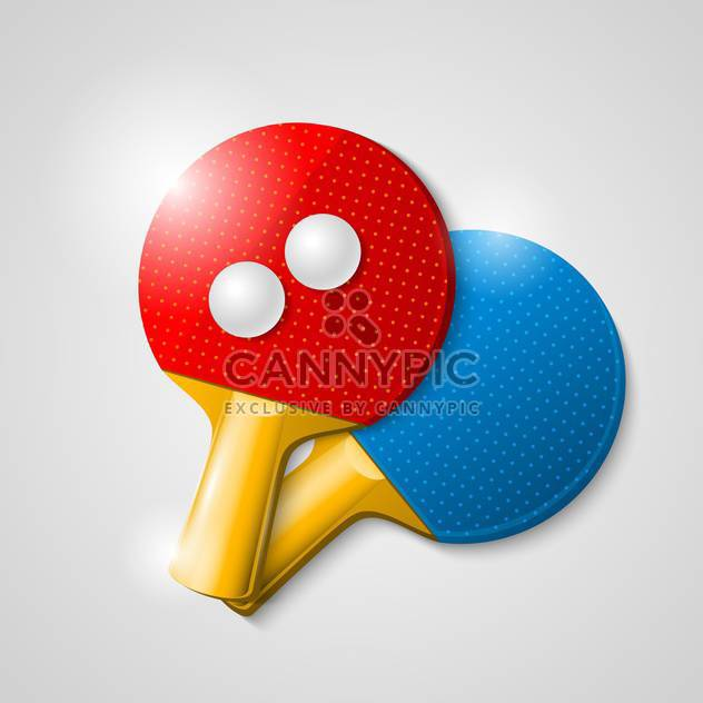 vector table tennis equipment - Free vector #133216