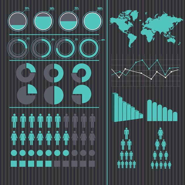 business infographic elements vector set - Free vector #133246