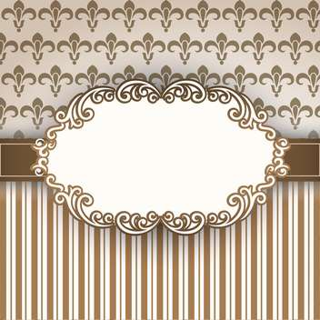 vintage vector frame background - vector #133256 gratis