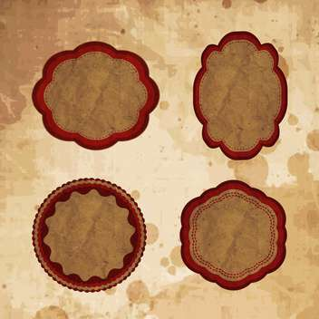 vintage frames set background - vector gratuit #133266