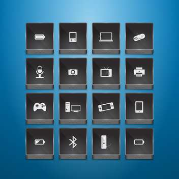 Technology icons - vector gratuit #133356