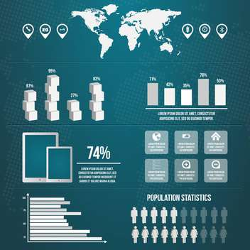 business infographics with population statistics - vector gratuit #133366