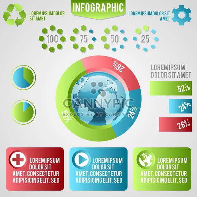 ecology infographics with elements and icons - бесплатный vector #133416