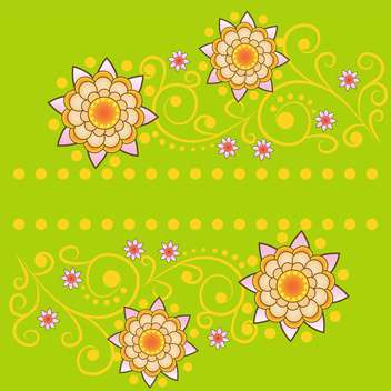 vector summer floral background - vector gratuit #133436