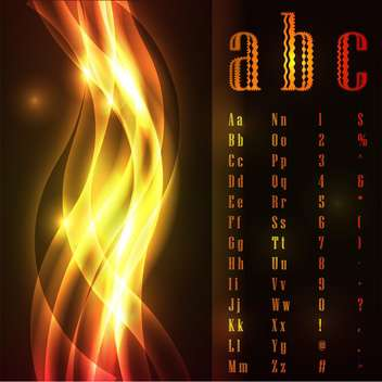 vector flames font alphabet letters - Free vector #133476