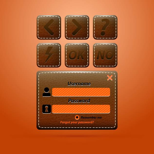 leather web business elements - vector #133486 gratis