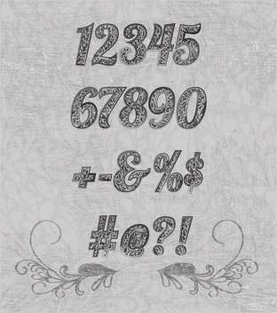 numbering design elements set - Free vector #133506