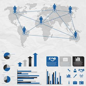 set of business infographic elements - Free vector #133546