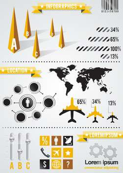 set elements of business infographic background - Free vector #133606