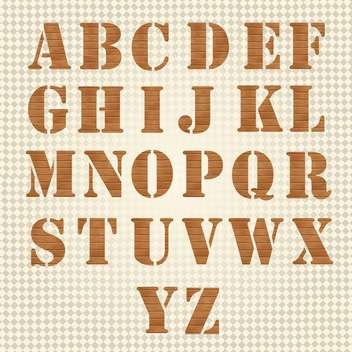 old wooden alphabet vector set - vector gratuit #133616