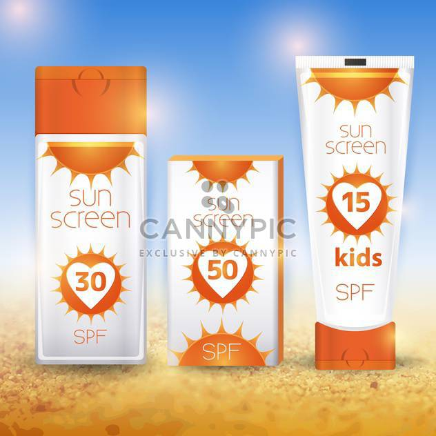 sun cream containers illustration - Free vector #133666