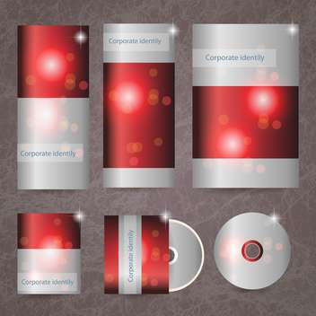 red corporate brand identity - vector gratuit #133716