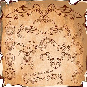 artistic vintage elements ornate background - vector #133756 gratis