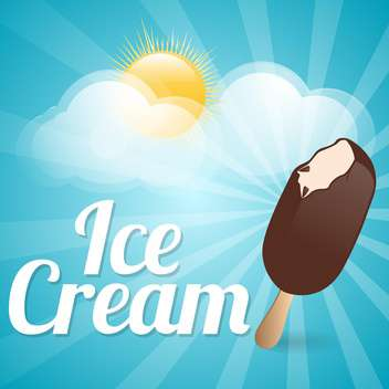 ice cream summer background - бесплатный vector #133776