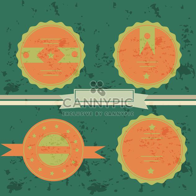 set of labels on green background - Free vector #133786