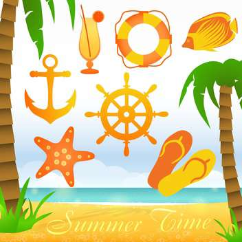 summer time collection elements - vector #133856 gratis