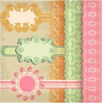 retro abstract greeting background - vector #133866 gratis