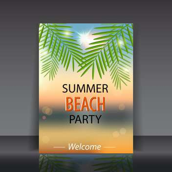 summer beach party poster - vector gratuit #133956