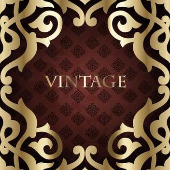 vintage holiday royal frame - vector #133976 gratis