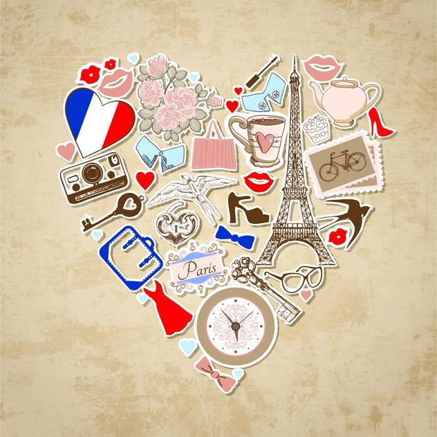 love in paris background illustration - vector #133986 gratis