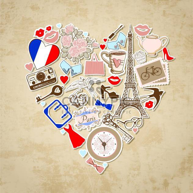 love in paris background illustration - Free vector #133986