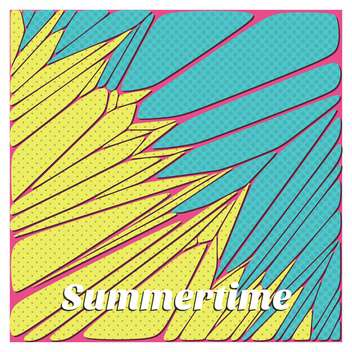 abstract summertime vacation background - vector gratuit #134086