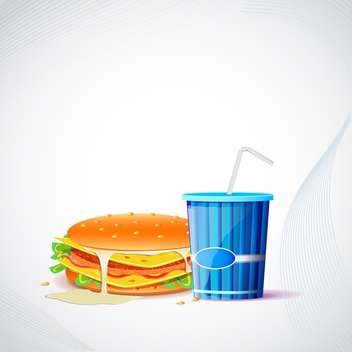 tasty fastfood lunch illustratoin - Free vector #134136