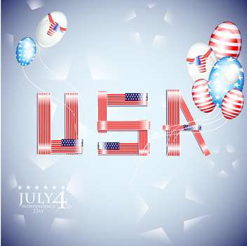 usa independence day illustration - vector #134156 gratis