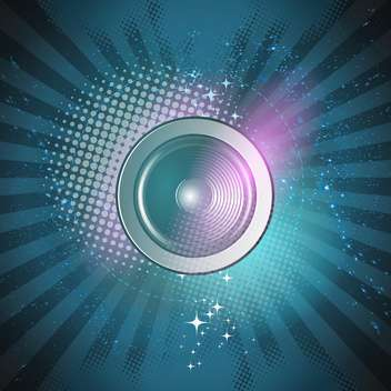 abstract background with speaker illustration - vector gratuit #134186
