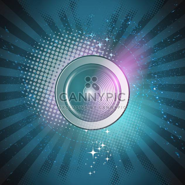 abstract background with speaker illustration - Free vector #134186