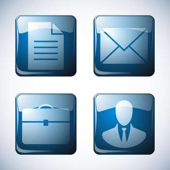 abstract business icon set - vector gratuit #134256