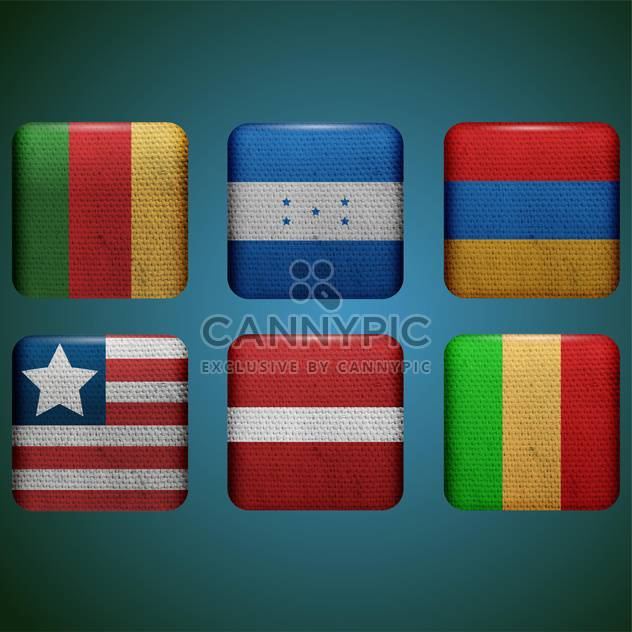 different countries vector flags set - Free vector #134306